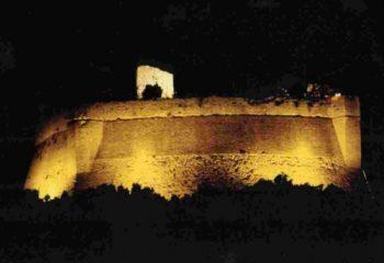 rocca sillana by night